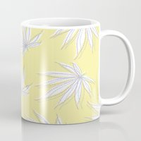 weed Mugs featuring weed by Estelle F