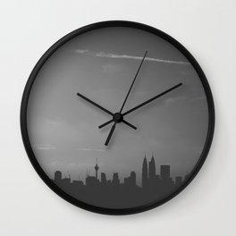 Kuala Lumpur Monochrome Wall Clock