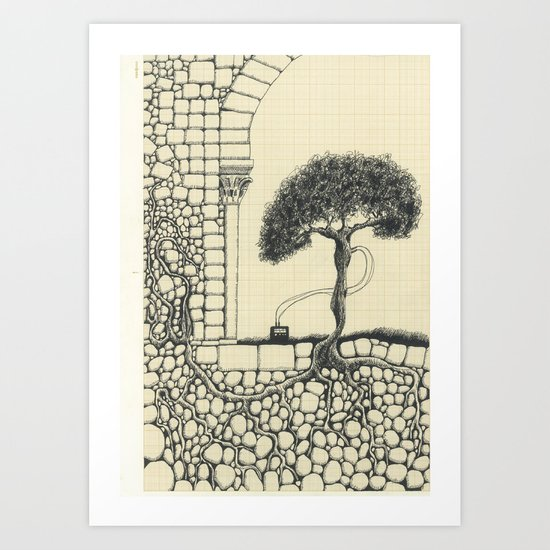Artificial Tree N.16 Art Print