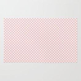 Rose Quartz and White Polka Dots Rug