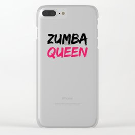 Zumba Queen Clear iPhone Case