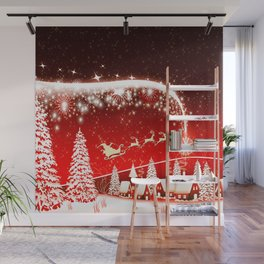 Santa Beautiful Christmas Wall Mural