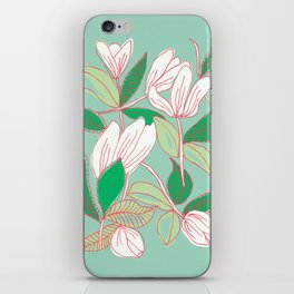 Floating Tulips (mint green) iPhone Skin
