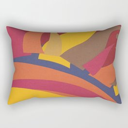Colorful Sun Vintage Abstract Poster Rectangular Pillow