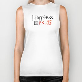 Happiness is Less than .05 WHITE Biker Tank