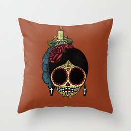 La Catrina Throw Pillow