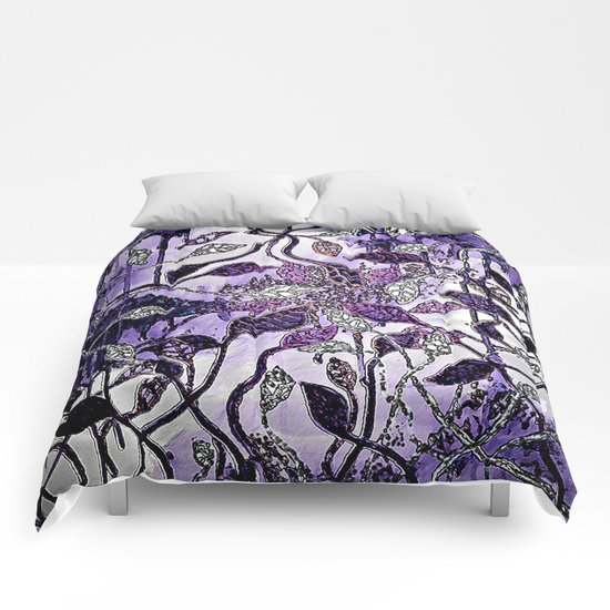 Interlaced Leaves Comforters