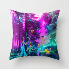 Walk in the forest Throw Pillow