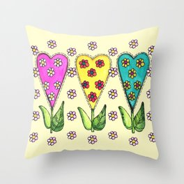 Sweet Hearts Throw Pillow