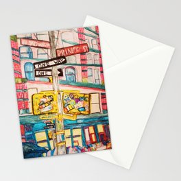"""this ones called i'd rather be on broadway than be a prince."" Stationery Cards"