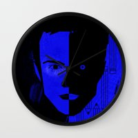 jesse pinkman Wall Clocks featuring Jesse Pinkman  by Micah Lanier