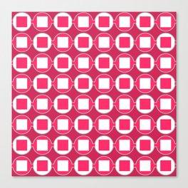 Strawberry Contemporary Bead Pattern Canvas Print