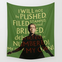 The Prisoner - I Will Not be Pushed Wall Tapestry