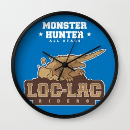 Monster Hunter All Stars - Loc-Lac Riders Wall Clock