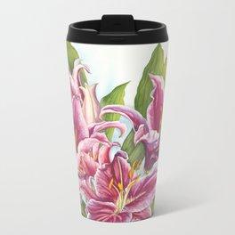Stargazer Lily Metal Travel Mug