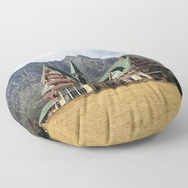 Nestled in the Mountains Floor Pillow