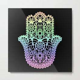 Rainbow Hamsa Metal Print
