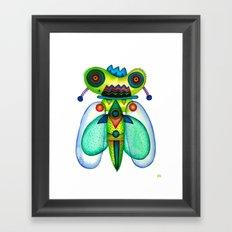 Dragonfly Moth Framed Art Print
