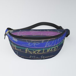 Library Card 3503 Exploring the Moon Negative Fanny Pack