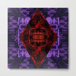 Red and Purple Design Metal Print