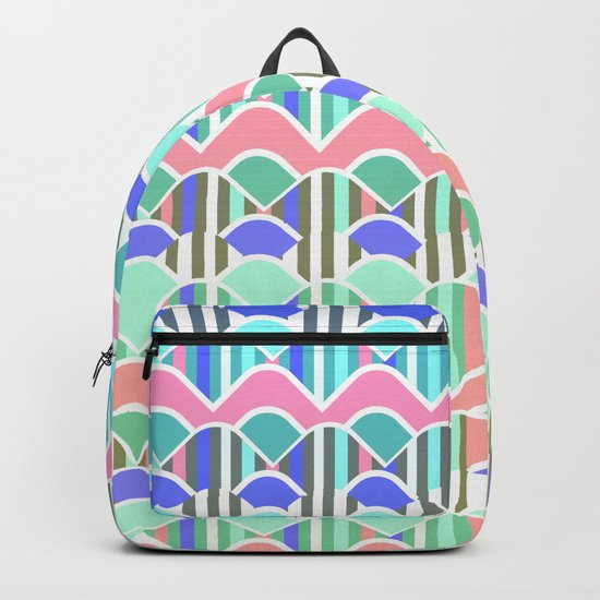 Colorful waves- upside down Backpack
