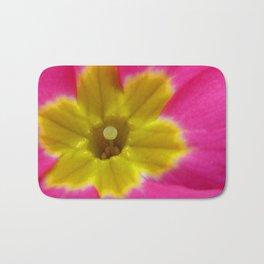 Pink and Yellow Primrose Macro Bath Mat