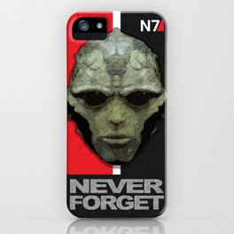 NEVER FORGET - Thane Krios - Mass Effect iPhone Case
