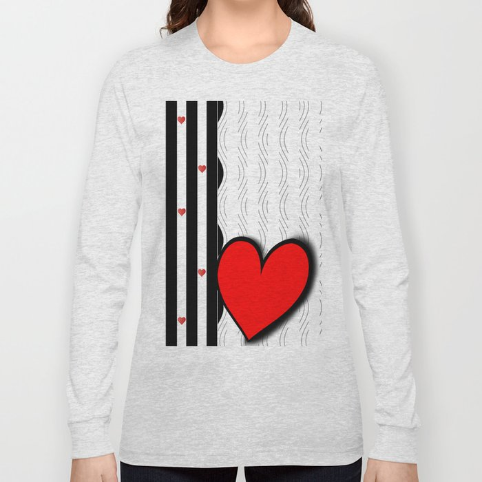 Black and white meets red Version 21 Long Sleeve T-shirt