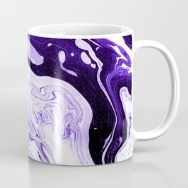 Purple and Black Marble Coffee Mug