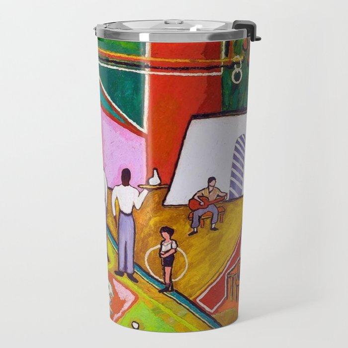 African American Masterpiece 'The Time of Your Life' by Beauford Delaney Travel Mug