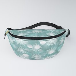 Holiday Teal and Flurries Fanny Pack