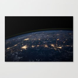 Glittering World Canvas Print