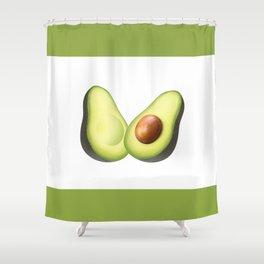 'ave an Avo | White/Green Shower Curtain