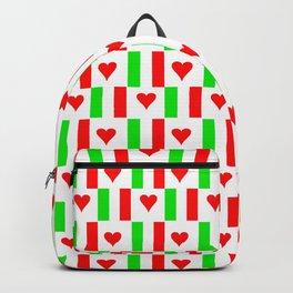 Flag of Italy with heart - Italy,Italia,Italian,Latine,Roma,venezia,venice,mediterreanean,Genoa,fire Backpack