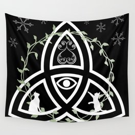 Celtic Knot, Evil Eye, and Cats Wall Tapestry