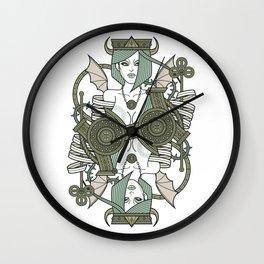 SINS Mentis - Envy Queen of Clubs Wall Clock