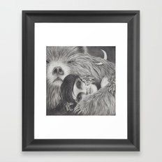 The Night is a Black Bear Framed Art Print