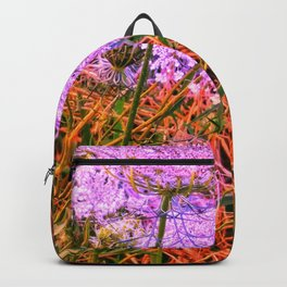 Blue Tinted Queen Anne's Lace Backpack