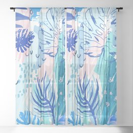 Night Jungle Sheer Curtain