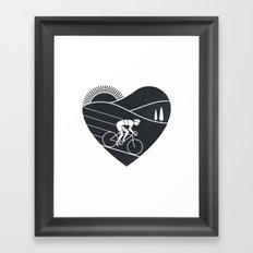 Love Cycling Framed Art Print