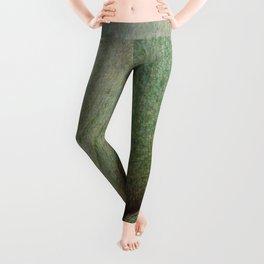 Beautiful Unique maple green wood veneer design Leggings