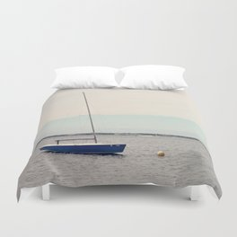 Alone on the Bay Duvet Cover