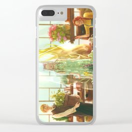 Watering the plants Clear iPhone Case