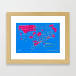 "Map: Detroit Future City ""Neighborhoods"" Framed Art Print"
