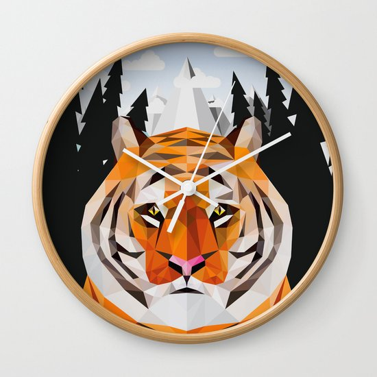 The Siberian Tiger Wall Clock
