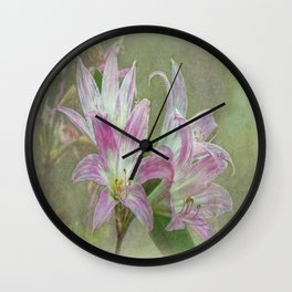 Belladonna Lily Wall Clock
