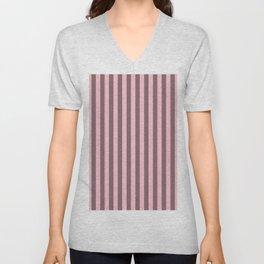Pink Stripes Pattern Unisex V-Neck