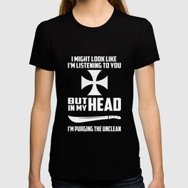purging the unclean funny quote T-shirt