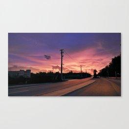 Miami Sunrise Canvas Print