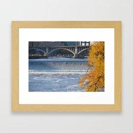 St Anthony Falls Framed Art Print